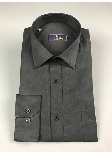 Abbate Kolay Ütülenır Klasık Yaka Regularfıt Ceplı Gömlek Siyah